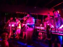 Reggae band Guidance Band jams at the Anna O'Briens Royalty Free Stock Photography