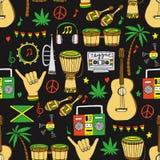 Reggae bezszwowy wzór ilustracja wektor