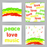 Reggae Cards Royalty Free Stock Images
