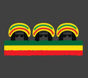 Reggae Culture Concept Design. AI 10 Supported Royalty Free Stock Photos