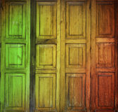 Reggae door. Reggae and thai style door  background Stock Photo