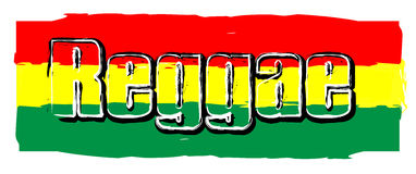 Reggae flag sign Royalty Free Stock Image