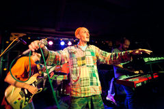 Reggae group Roma VPR performing in a night club Chinese Pilot Jao Da Stock Photography
