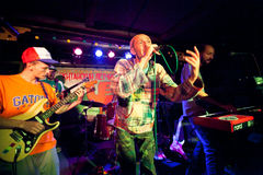 Reggae group Roma VPR performing in a night club Chinese Pilot Jao Da Stock Images