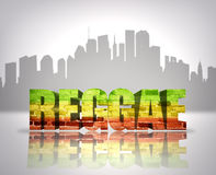 Reggae i stad Arkivbild