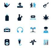 Reggae icons set. Reggae icon set for web sites and user interface Stock Photos
