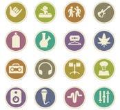 Reggae icons set. Reggae icon set for web sites and user interface Stock Image