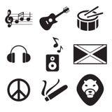 Reggae ikony royalty ilustracja