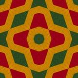 Reggae kolory szydełkują trykotowego stylowego tło, odgórny widok Kolaż z lustrzanym odbiciem z rhombus Bezszwowy kalejdoskopu mo royalty ilustracja