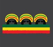 Reggae-Kultur-Konzept-Design Lizenzfreie Stockfotos