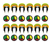 Reggae-Kultur-Konzept-Design Lizenzfreies Stockfoto