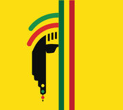 Reggae-Kultur-Konzept-Design Lizenzfreie Stockbilder