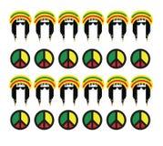 Reggae kultury pojęcia projekt royalty ilustracja