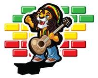Reggae lew ilustracja wektor
