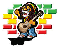 Reggae lion Royalty Free Stock Photography