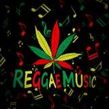 Reggae marihuany royalty ilustracja