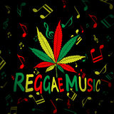 Reggae marihuany Obraz Royalty Free