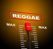 Reggae Music Indicates Acoustic Recording And Melody Royalty Free Stock Photos