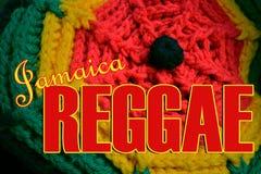 Reggae Music Jamaica. Photo close up of a Rasta hat bearing reggae colors stock images