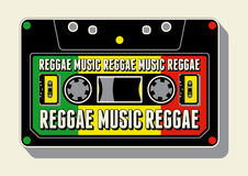 Reggae music poster. Retro typographical grunge vector illustration. Royalty Free Stock Image