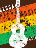 Reggae music poster. Retro typographical grunge vector illustration. Royalty Free Stock Photography