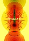 Reggae music poster. Retro typographical grunge vector illustration. Stock Photos