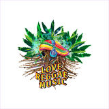 Reggae music Stock Image