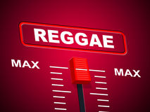 Reggae Music Represents Sound Track And Ceiling Stock Images