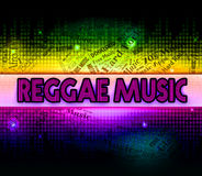 Reggae Music Represents Sound Tracks And Acoustic Stock Photography