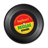 Reggae muzyczny winylowy rejestr ilustracja wektor