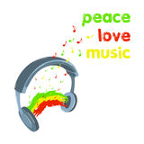 Reggae muzyka Fotografia Royalty Free