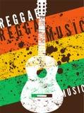 Reggae muzyki plakat Retro typographical grunge wektoru ilustracja ilustracja wektor