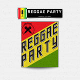 Reggae party insignia  and labels for any use Royalty Free Stock Photography