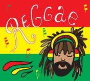 Reggae, rastaman dans des écouteurs Photographie stock