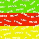 Reggaeachtergrond Stock Afbeeldingen