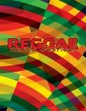 Reggaeachtergrond voor muziekfestival Vector grafisch patroon Stock Afbeeldingen