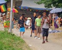 Reggaefestival 2012 i Bagnols sur Ceze Frankrike Royaltyfria Foton