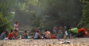 Reggaefestival 2012 i Bagnols sur Ceze, Frankrike Arkivfoto