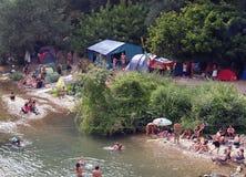 Reggaefestival 2012 i Bagnols sur Ceze, Frankrike Arkivbilder