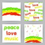 Reggaekaarten Royalty-vrije Stock Afbeeldingen