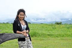 Regge Woman Asia Field Thailand Stock Photography