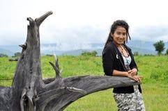 Regge Woman Field Asia Thailand Stock Photos