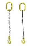 Reggette del carico: cavo e catena con il gancio della gru illustrazione di stock