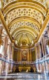 Reggia二卡塞尔塔, 18世纪王宫豪华内部  库存照片