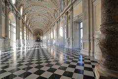 Reggia da opinião de perspectiva interna de Venaria Reale da grande galeria fotos de stock royalty free