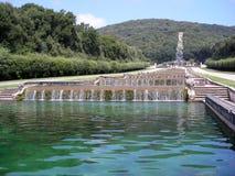 Reggia di Caserta-Piccole Cascate Royalty Free Stock Image