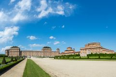 Reggia di Venaria Reale, residencia real anterior de la familia de la col rizada, Venaria foto de archivo