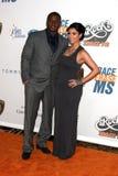 Reggie Bush, Kim Kardashian fotografia stock libera da diritti