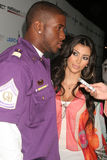 Reggie Bush, Kimberly Kardashian Obraz Royalty Free