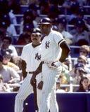Reggie Jackson e Dave Winfield fotografie stock